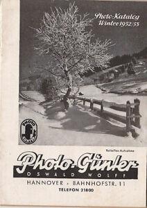 Photo-Guenter-Katalog-vom-Fotohaendler-Ausgabe-1952-53