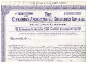 The Yorkshire Amalgamated Collieries Ltd., 19xx, SPECIMEN, VF