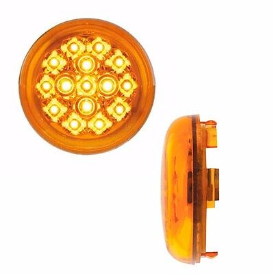 2 Amber 15 LED Bulb & Lens Set for Harley 1157 Plug Bullet Snap In Turn Signals