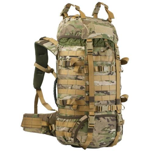 WISPORT TACTICAL RACCOON ARMY RUCKSACK BACKPACK MOLLE 45L TREKKING MULTICAM CAMO