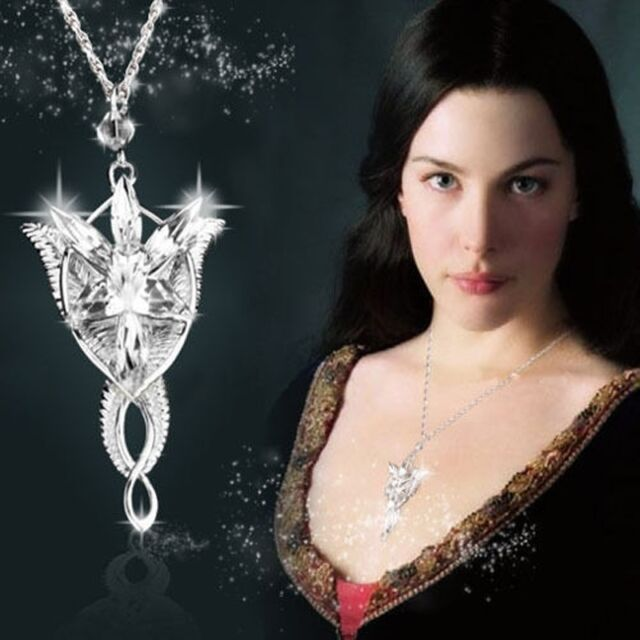 Lord of the Rings Pendant Arwen Evenstar Wizard Modern Princess Tone Necklace