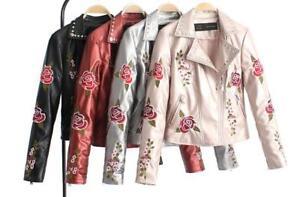 Ladies-Floral-Embroidery-Jacket-PU-Leather-Women-Lapel-Punk-Rivet-Slim-Fit-Coats