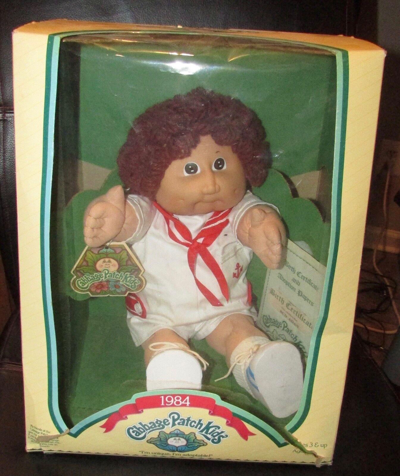 1984 Cabbage Patch Kid Bud Adán Nuevo en caja con papeles