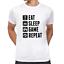 EAT-SLEEP-GAME-REPEAT-Gamer-Zocker-Admin-Sprueche-Spass-Lustig-Comedy-Fun-T-Shirt Indexbild 6