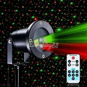 Christmas star projector lights waterproof xmas led shower motion remote control ebay for Star shower projecteur