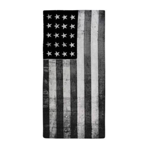 1640434366 CafePress American Vintage Flag Black And White Beach Towel