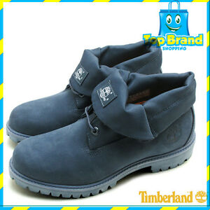 a411d45528fd Timberland® Icon Roll-Top Fabric BOOT NAVY LEATHER Mens Boots SHOES ...
