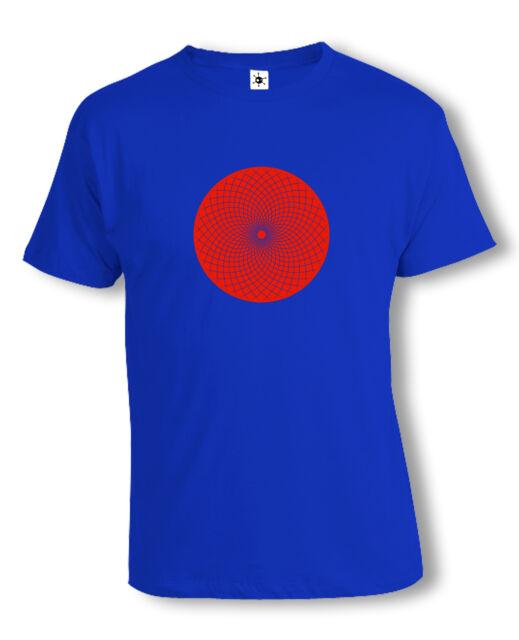 Op-Art Mandala T-Shirt | Psychedelic | Acid | Techno | verschiedene Farben