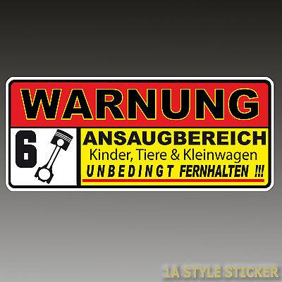 Warnung TURBO Aufkleber Auto Ansaugbereich  Luft 4 Zylinder i 30 n cupra 5f  d13