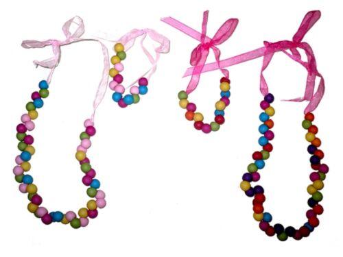 Enfants Filles Perles Collier et Bracelet Set-Sac de fête/Stocking Remplissage