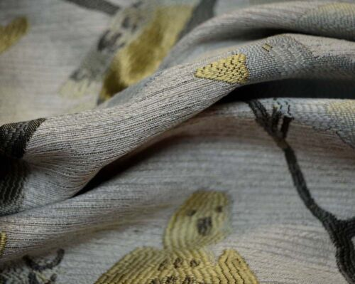 Blue Grey Gold Bird Upholstery Birdseye View Spa Swavelle Mill Creek Fabric