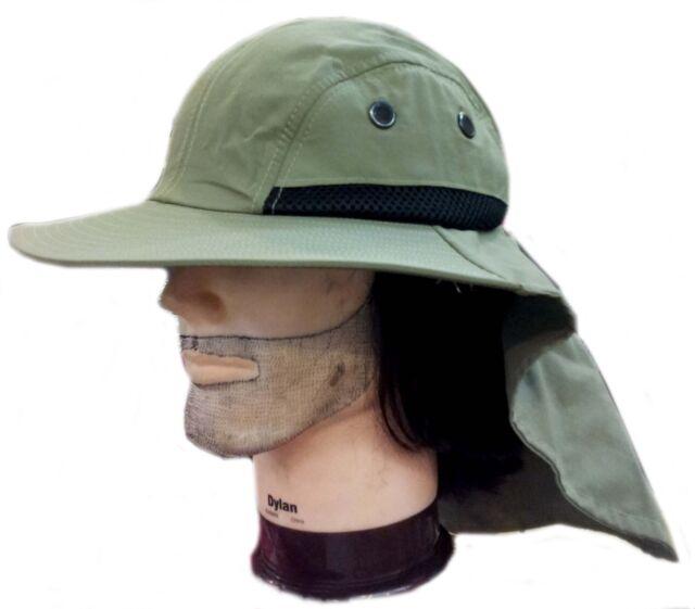 8e70236499a Camping Hunting Fishing Long Neck Flap Summer Hiking Army Bucket ...