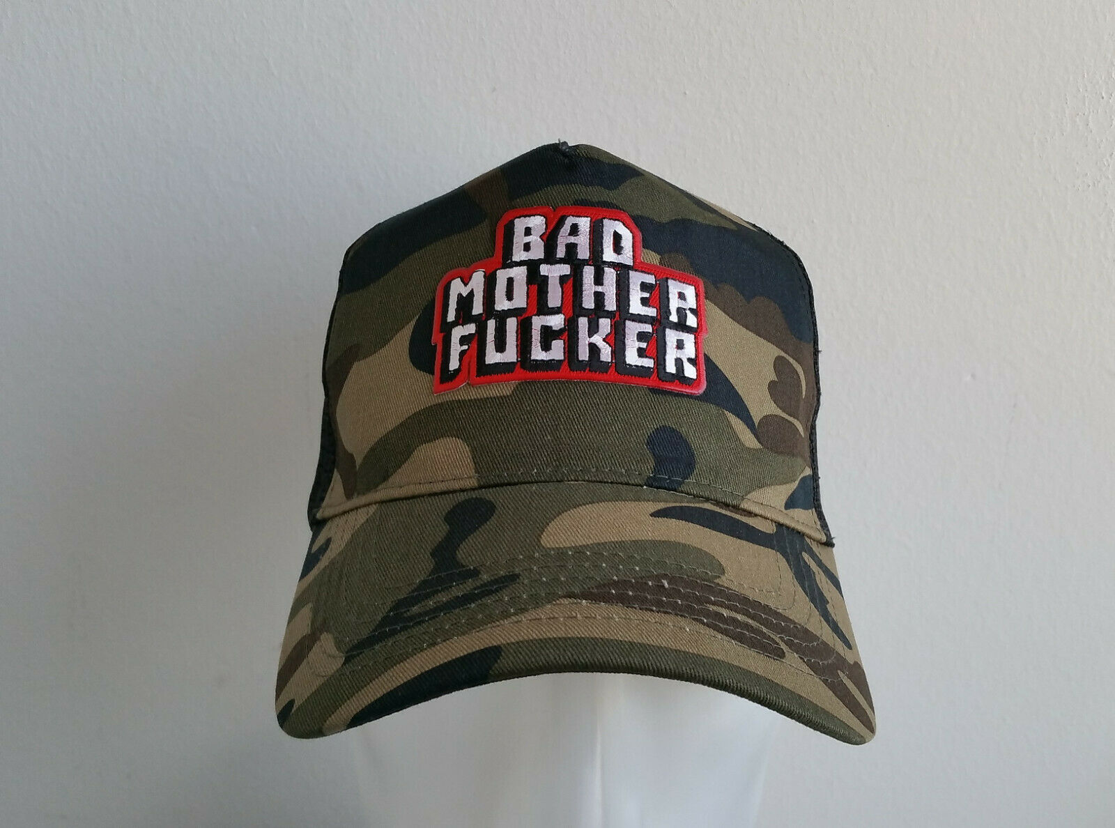 Bad Motherfucker Trucker Cap Mütze Redneck BMF Camouflage