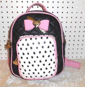 PinkBlack Quilted Handbag Betsey Johnson Backpack TJFKul1c3