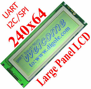 Details about Serial:UART/IIC/I2C/SPI 240x64 Graphic LCD Display Module for  Arduino/PIC/AVR