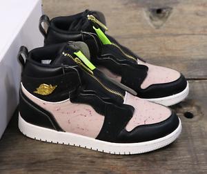 Détails sur Nike Air Jordan 1 High Zip Femme Baskets UK 4 EU 37.5 AQ3742 001 afficher le titre d'origine