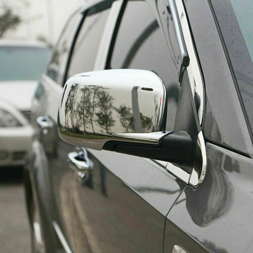 For Dodge Journey 2009-18 2019 Chrome Rearview Side Door Mirror Cover Trim 2pcs