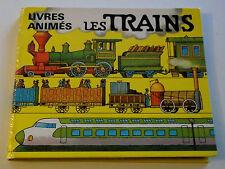 Rare POP UP Les TRAINS ARTIA Livres Animés à systèmes en relief