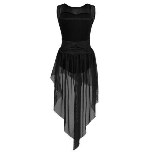 Girl Kid Praise Lyrical Dance Dress Ballet Gymnastics Leotard Maxi Skirt Costume
