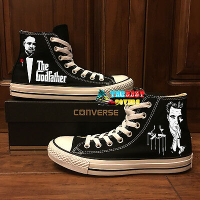 Converse All Star The Godfather Movie Mob Hand Painted Shoes Zapatos Scarpe Ebay