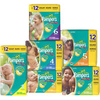 Pampers Baby Dry Diapers Size 1, 2, 3, 4, 5, 6 Cheap No Tax