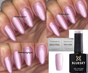 BLUESKY-GEL-POLISH-PINK-PEARLY-SHIMMER-TUNDRA-80609-NAIL-UV-LED-SOAK-OFF-2-FILE