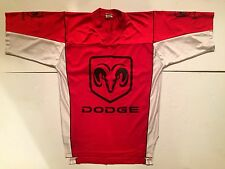 Dodge Hemi Red Mesh Football Jersey V-Neck Size 2XL Rare Charger Challenger Ram
