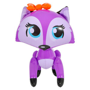 "Lady Fox  Inflate Blow Up Toy Party Decoration 24/"" Orange Bowed Fox Inflatable"