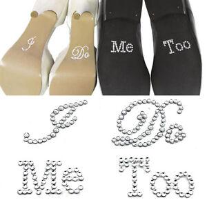 2 Set of White Clear Rhinestone Wedding Decor I Do Me Too Bridal ... 31dc3627398a