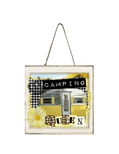 Details about  /Camping Queen Printed Handmade Mini Sign