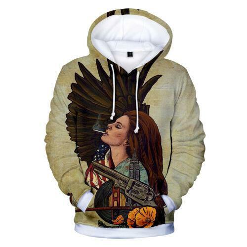 Star Lana Del Rey 3D Print Hoodies Mens Womens Casual Pullover Sweatshirts Tops