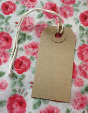 Vintage Style Gift/ Luggage Tags - Pack of 20 Plain Brown Tags- Wedding Crafting