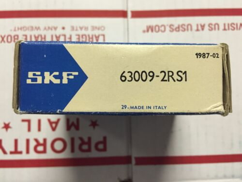 PART# 63009-2RS1-1 PC SKF BEARING NEW