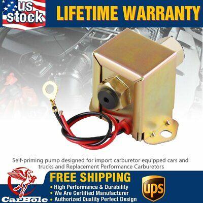 EP12S Universal 4-7 PSI Electric Fuel Pump For Carburetor Motor 12V 90 L//h