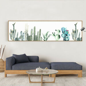 Details About Panoramic Canvas Print Catcus Plant Art Oversized Wall Decor Unframed