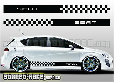Seat side racing stripes 006 decals stickers graphics Leon, Altea