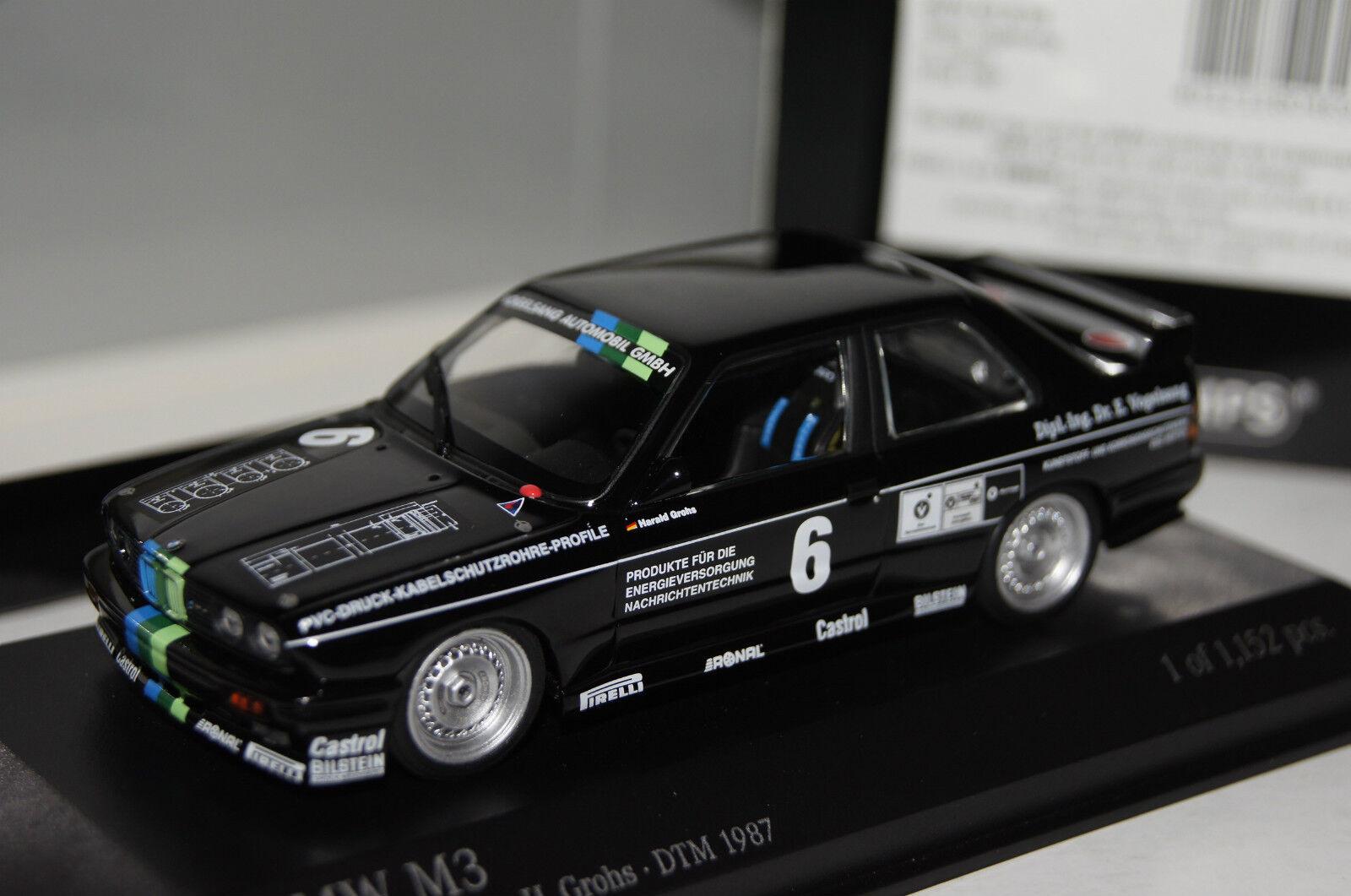 BMW M3 (E30) Vogelsang DTM 1987 H.Grohs H.Grohs H.Grohs  6 1 43 Minichamps neu & OVP 430872006 64f0b8