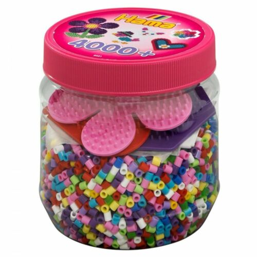 Hama Beads Set Kids Arts /& Crafts 4000 pieces Birthday Christmas Ideas