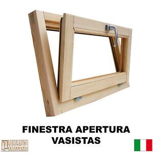 Finestra-in-legno-lamellare-grezzo-cm-L-100-X-60-vasistas-levigata-doppio-vetro