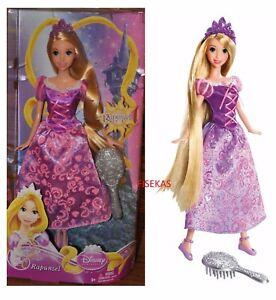 Disney Princess Tangled Rapunzel Fashion Doll Gown Brush Crown  2011 T3244 NEW
