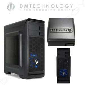CASE-ATX-VULTECH-GAMING-DARKLINE-GS-0285BL-ALIMENTATORE-600W-USB-3-0-VENTOLA-BLU