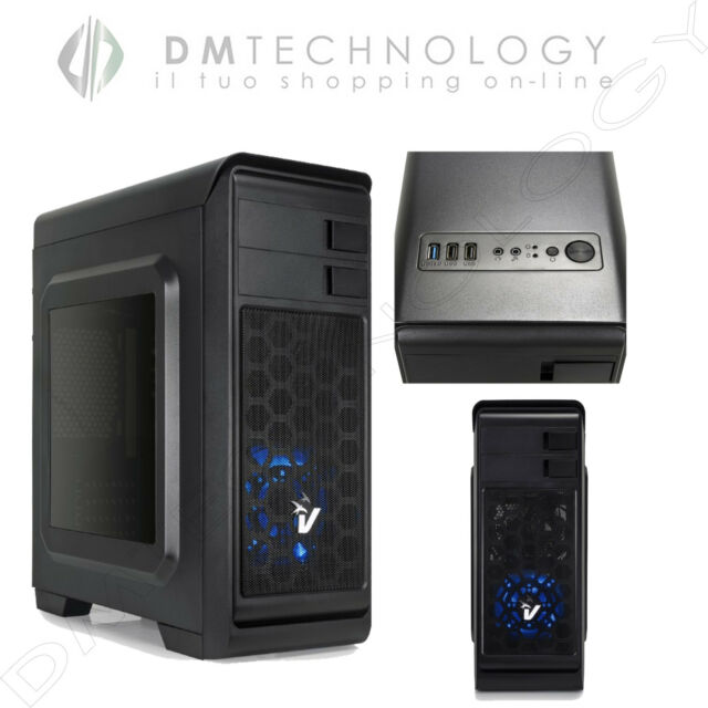 CASE ATX VULTECH GAMING DARKLINE GS-0285BL ALIMENTATORE 600W USB 3.0 VENTOLA BLU