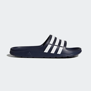 New Adidas Mens DURAMO Slide G15892 NAVY / WHITE US M 6 - 10 TAKSE