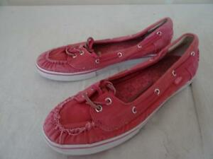 VANS pizzo scarpa MARINARA rosa US 7/UK 4.5 / Eur 37.5 163 P