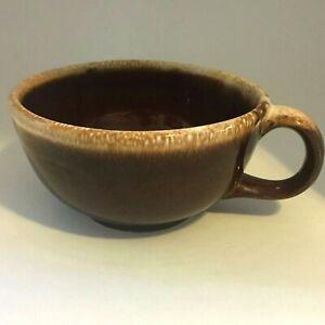 McCoy USA Brown Drip Soup Mug Cup Bowl with Handle