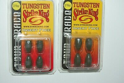 "2 Pack VMC Tungsten Worm Weight 1//2 /""Green Pumpkin/"""