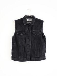 HOF115-Cheap-Monday-Weste-jacke-jeans-schwarz-PC-Hero-denim-vest-black-S