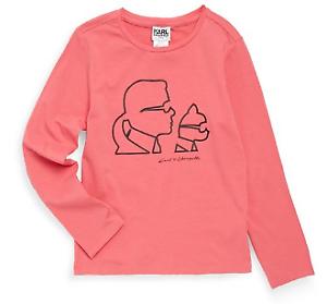 Karl Lagerfeld Junior Girl/'s Silhouette Tshirt Top Tee Rose Pink Age 8 *REF46