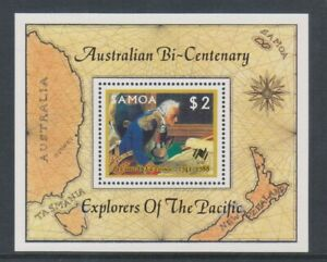 Samoa - 1987, Australian Settlement, 1st series sheet - MNH - SG MS762