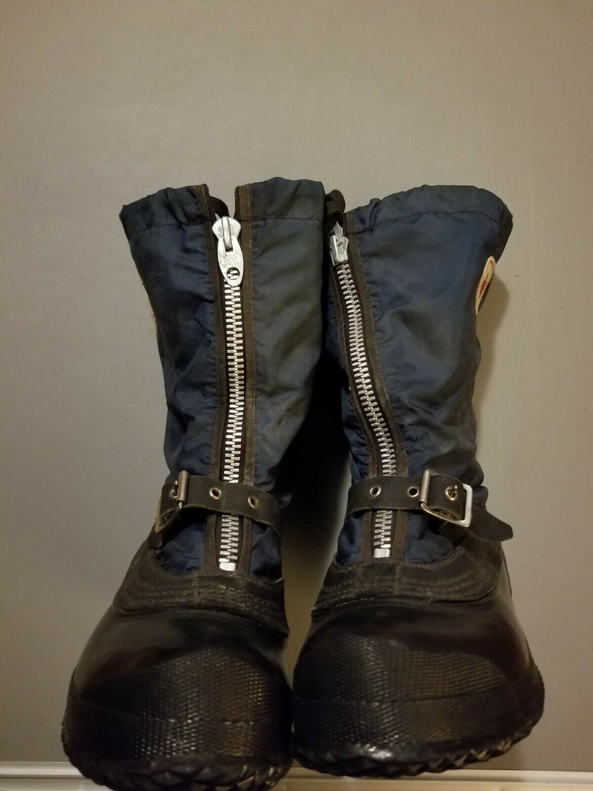 Women size 8 zip zip zip up Winter Snow boots with removable liner and strap buckle bluee 5030d0